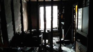 Сожженный офис «Мемориала» в Назрани. 17 января 2018