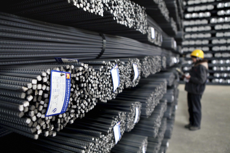 Un employé dans une usine de Lianyunyang, dans la province du Jiangsu, dans l'est de la Chine.