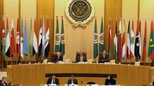 Tổng thư ký Liên Đoàn Ả Rập phát biểu tại hội nghị bất thường ngày 09/12/2017 tại Cairo (Ai Cập) để bàn về quyết định của tổng thống Mỹ Donald Trump, công nhận Jerusalem là thủ đô của Israel.