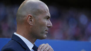 Zinedine Zidane, treinador francês do Real Madrid.