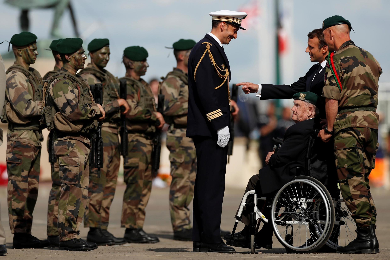 96-летний Леон Готье, ветеран подразделения Кифера, на церемонии в Кольвиль-Монтгомери 6 июня 2019