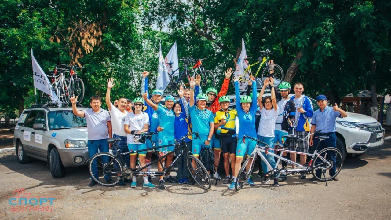 Вмеждународном веломарафоне «Астана-Париж» участвуют 16 человек
