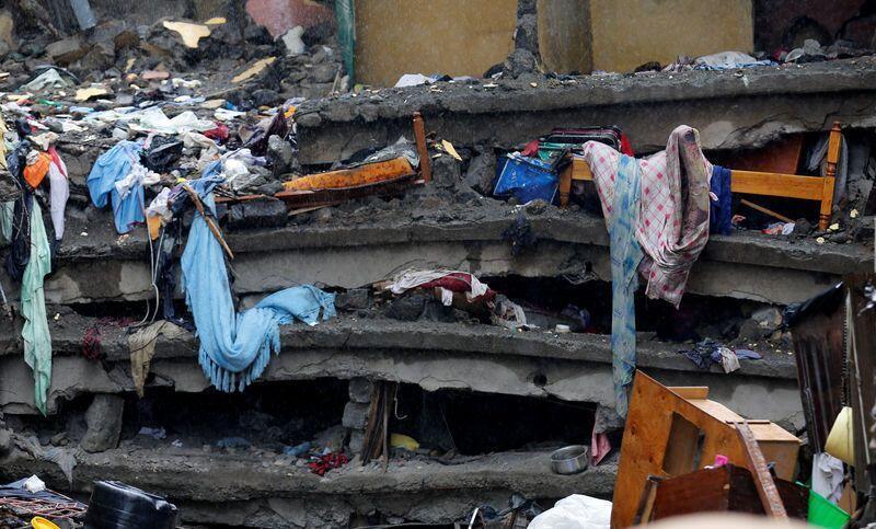 Maporomoko ya jengo la ghorofa sita la tarehe 29 Aprili yaliwaua watu 49 mjini Nairobi, mji mkuu wa Kenya.