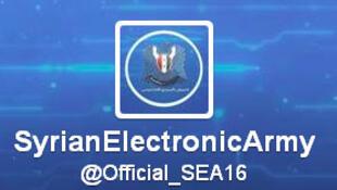 @official_SEA16, le compte officiel Twitter de l'Armée électronique syrienne.