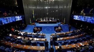 Majalissar Brazil na muhawarar Karshe don tsige Dilma Rousseff.