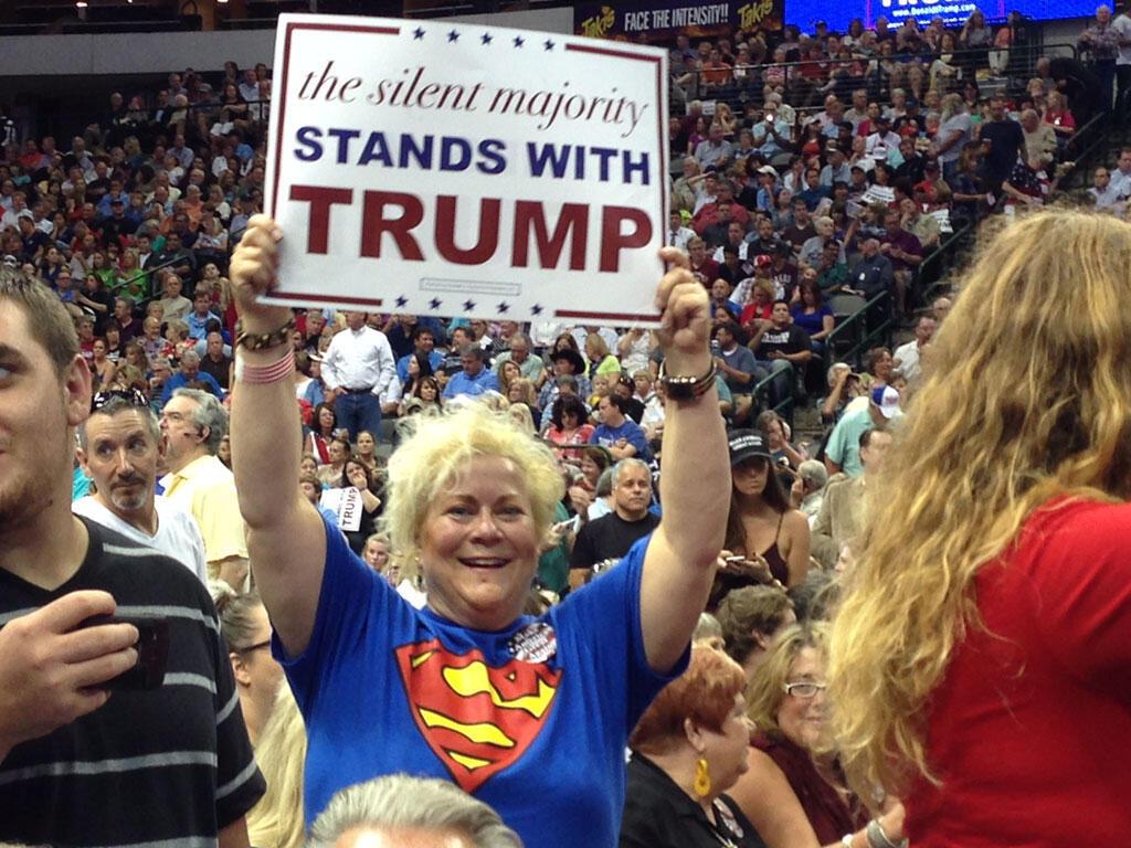 Donald Trump s'est fait le porte-voix de la majorité silencieuse (ici lors d'un meeting à Dallas).