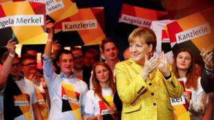 លោកស្រី Angela Merkel នៅថ្ងៃឃោសនាចុងក្រោយ ថ្ងៃទី ២៣ កញ្ញា ២០១៧