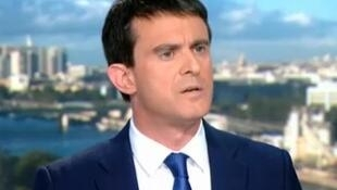 French Prime Minister Manuel Valls on TV on Sunday