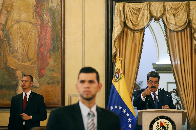 Николас Мадуро на пресс-конференции в Каракасе. 08.02.2019