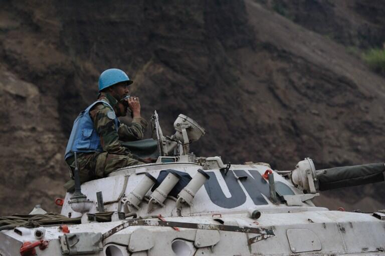 Un soldat de la Monusco, à Munigi, près de Goma, le 19 juillet 2013.