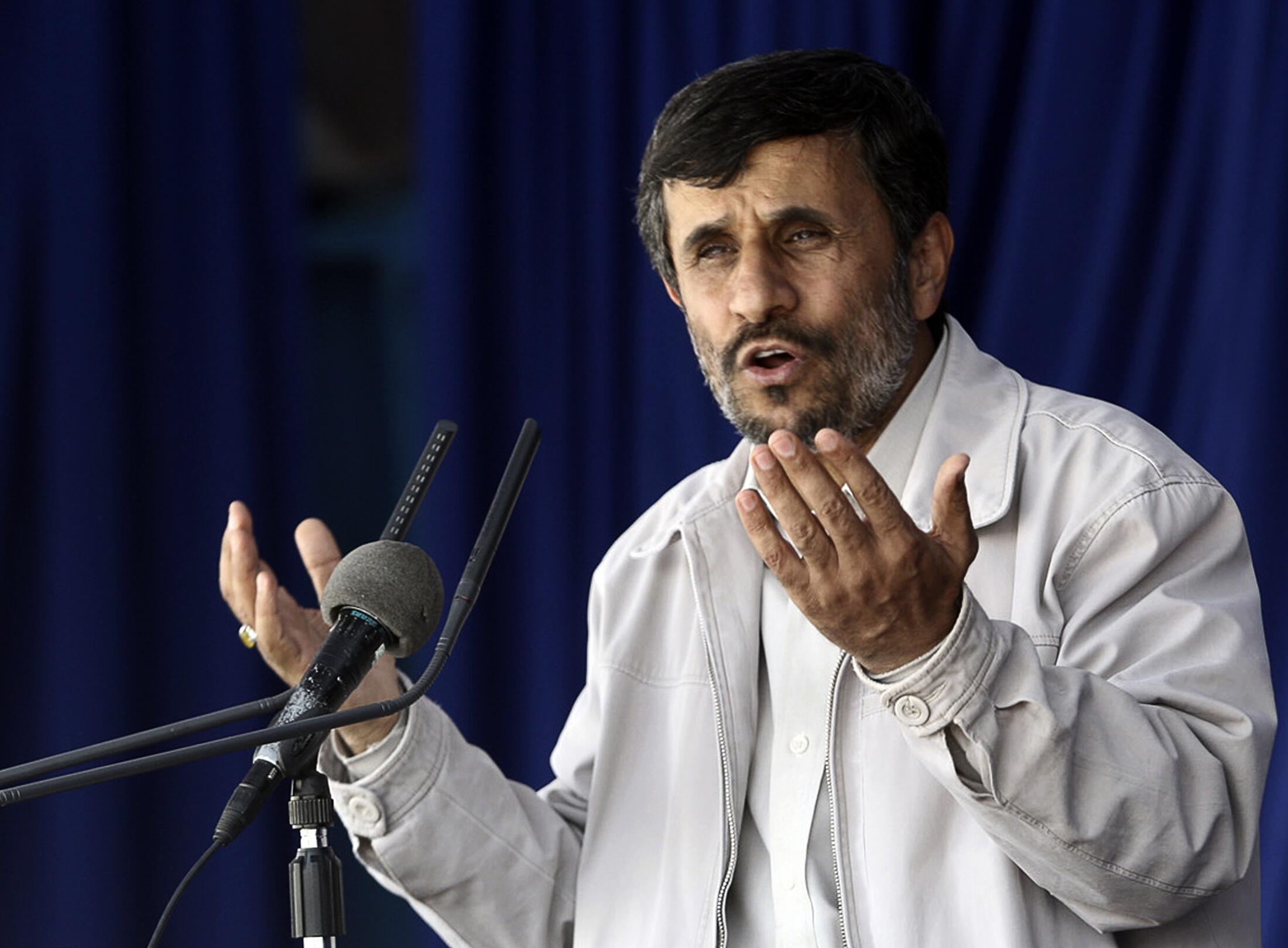 Shugaban kasar Iran, Mahmud Ahmadenajad,