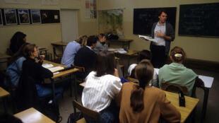 Salle de classe à Varsovie, Pologne.