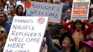 Một cuộc biểu tình ủng hộ người tị nạn tại Úc, 11/10/2015.