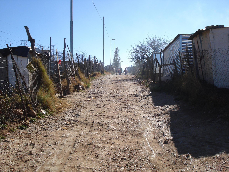 Vue du township de Soweto, Afrique du Sud.