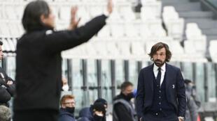 Football - Juventus - Andrea Pirlo - match - contre Benevento - Filippo Inzaghi - 21 mars 2021 - AP21080579369401