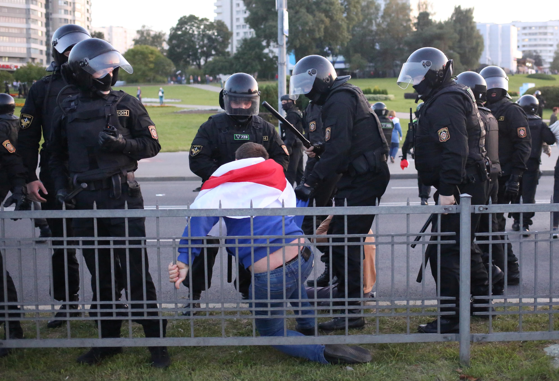 Задержание в Минске вечером 23 сентября 2020.