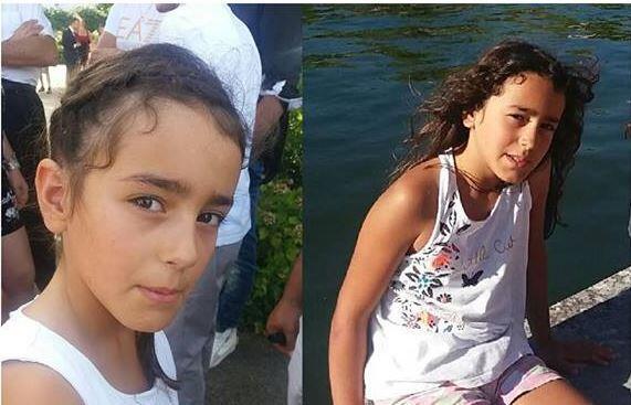 A garota desaparecida, Maelys de Araujo, de apenas 9 anos. As imagens foram divulgadas pela polícia francesa.