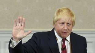Boris Johnson, waves as he finishes delivering his speech in London, Britain June 30, 2016.