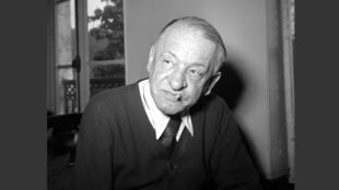 Blaise Cendrars, en janvier 1961 à Paris, quelques jours avant sa mort.