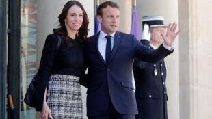 L'appel de l'Elysée a été lancé par le président français Emmanuel Macron et la Première ministre néo-zélandaise, Jacinda Ardern. Paris, France le 15/05/2019