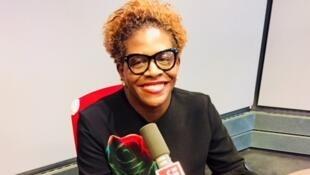 Emmelie Prophète en studio à RFI (octobre 2018).