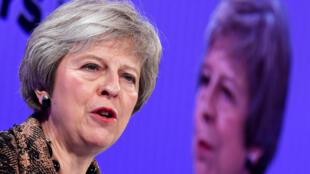Theresa May à Londres le 19 novembre 2018.