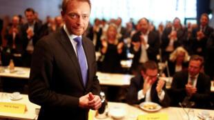 Christian Lindner, la tête du liste du FDP, le parti libéral allemand, ne veut pas gouverner à n'importe quel prix.