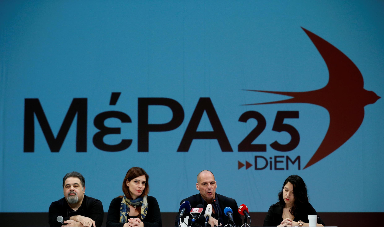 Athènes, le 26 mars 2018. L'ancien ministre des Finances grec Yanis Varoufakis lance son nouveau parti en vue des législatives de septembre 2019.