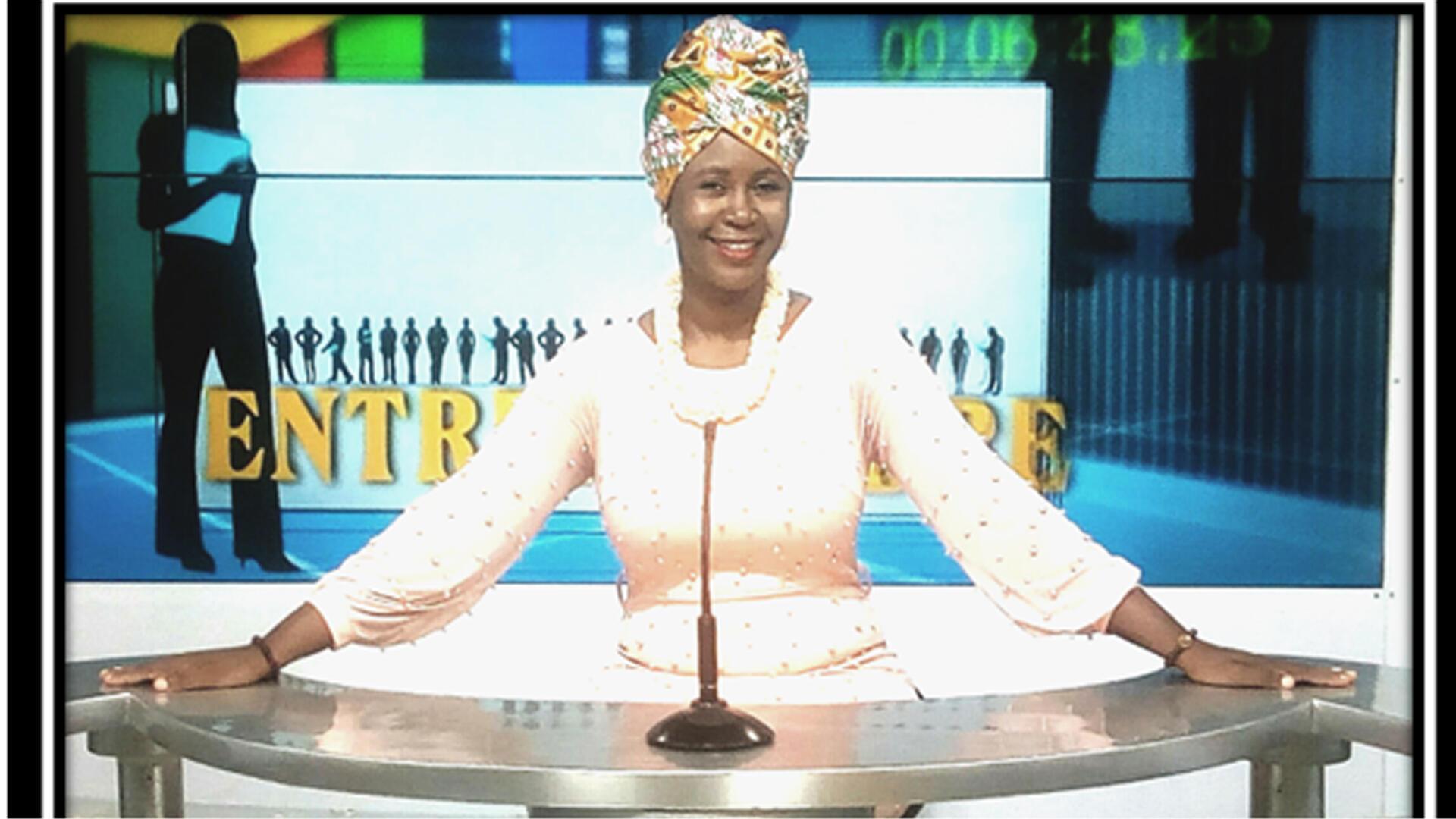 Fatoumata COULIBALY, présentatrice d'émission «Afribusiness TV».