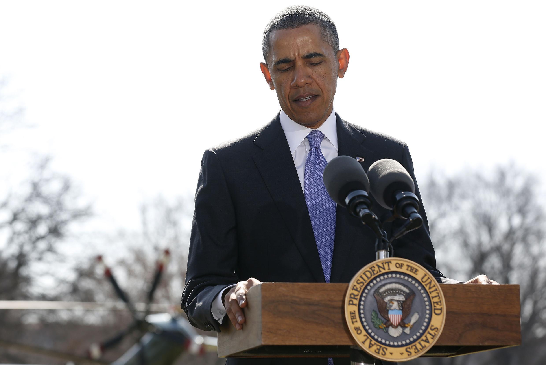Rais wa Marekani, Barack Obama akiionya Urusi.