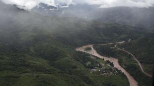 Perou - Vraem - vallée vue aérienne