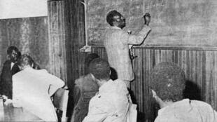Cheikh Anta Diop au tableau.