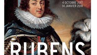 Affiche de l'exposition « Rubens, portraits princiers » au Musée du Luxembourg à Paris.