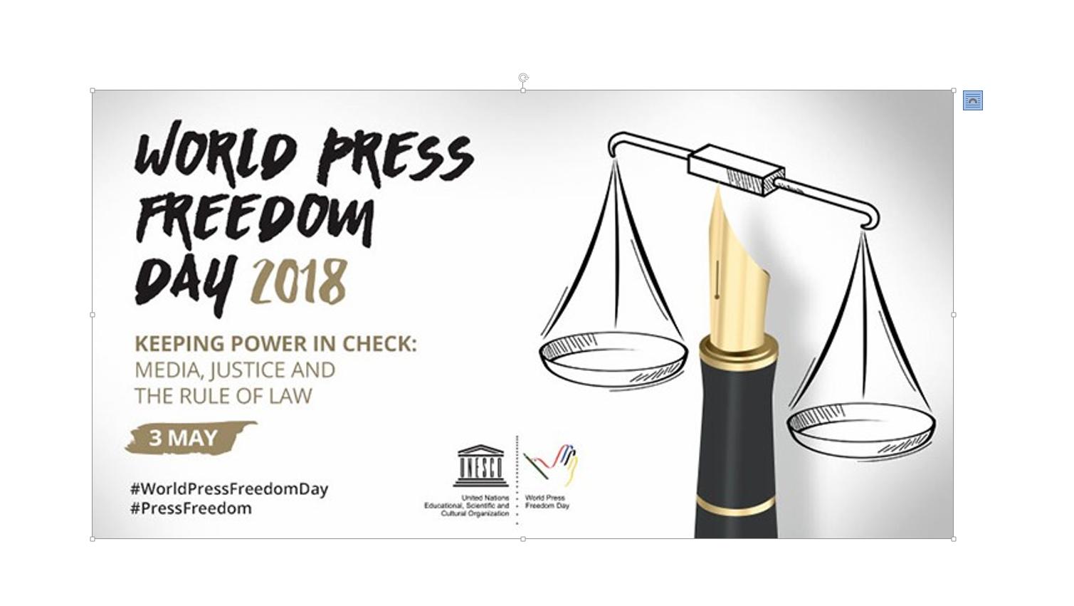 World Press Freedom Day 2018 世界新聞自由日