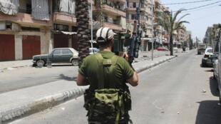 Tripoli en mai 2012, lors des affrontements entre sunnites et alaouites.