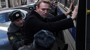 Blogger Alexeï Navalny tại Matxcơva. Ảnh ngày 27/10/12
