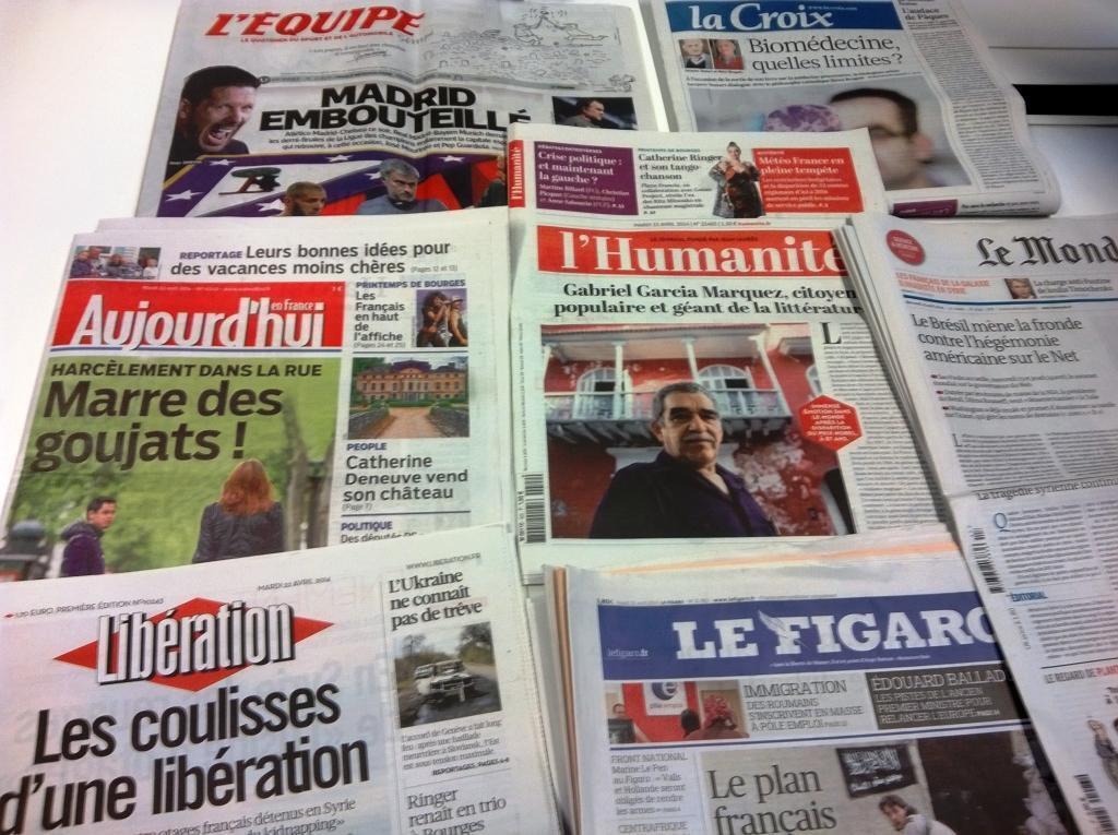 Diários franceses 22/04/2014