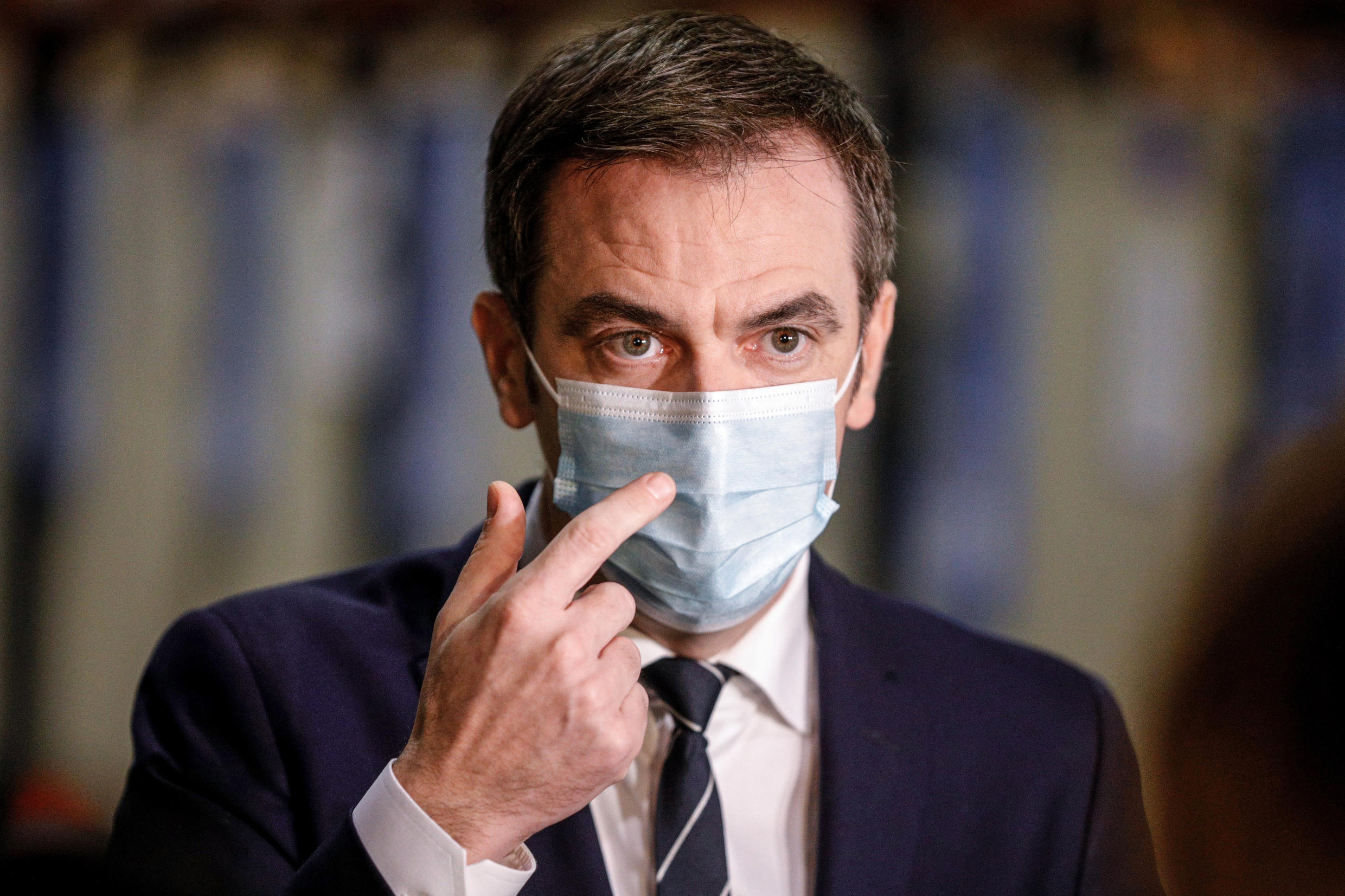 French health minister Olivier Véran.