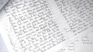 Les pages du journal intime de l'une des lycéennes nigérianes enlevées par les islmaistes de Boko Haram.
