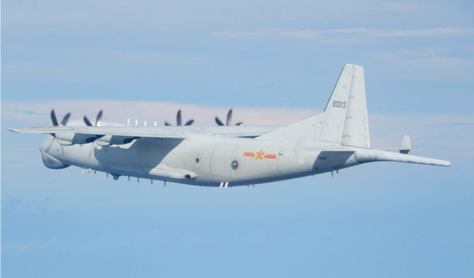 Chinese Airforce anti submarine plane. This Yun-8 is modelled on an Antonov model of the former Soviet Union. Taiwanese authorities say they faced several incursions by Yun-8 type of planes over the past months.