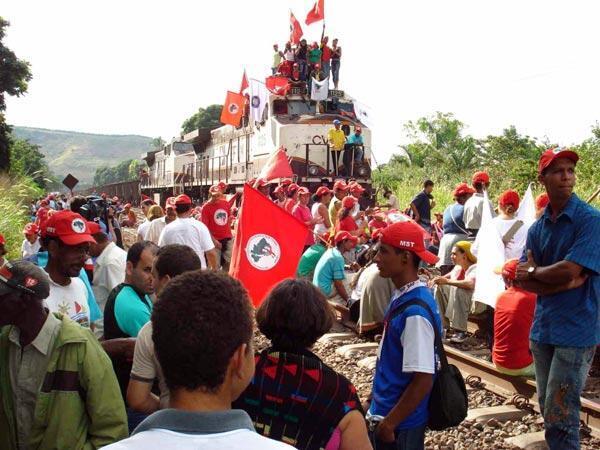 Protesto contra construção da usina de  Belo Monte.