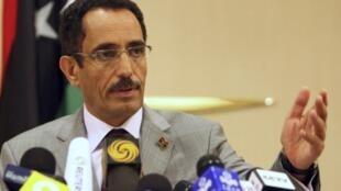 Vice Chairman of the interim NTC, Abdel Hafiz Ghoga,