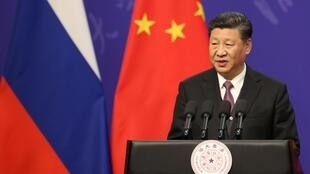 O Presidente  da China, Xi Jinping. Pequim .26 de Abril  de 2019