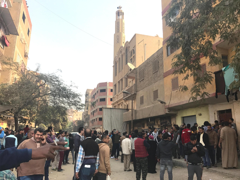 """حمله مسلحانه امروز در شهر """"حلوان"""" در جنوب قاهره رخ داد."""