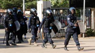 Forces de sécurité à Banjul en Gambie (photo d'archives).