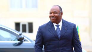 O presidente gabonês Ali Bongo, aqui em visita a Paris em Dezembro de 2013.