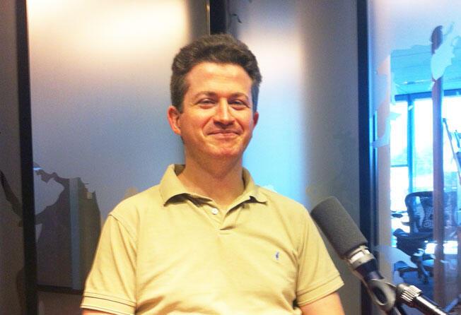 Jean-Christophe Notin, auteur de La Guerre de la France au Mali, dans les studios de RFI, ce samedi 16 août 2014.