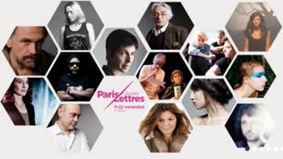 Affiche du festival de Paris en toutes lettres.