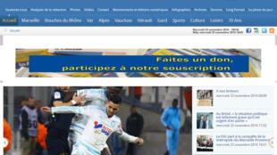 Le site internet du quotidien régional « La Marseillaise » appelle à faire des dons pour sauver le journal.