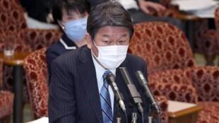 日本外務大臣茂木敏充資料圖片